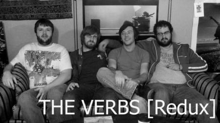 Verbs (Redux) guitarist Mike Moody (second from left) hospitalized with influenza, on an IV.