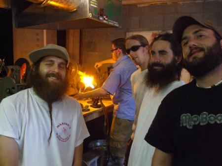 From left: Berger, some guy with a torch, Hulsey, Nail and Tico