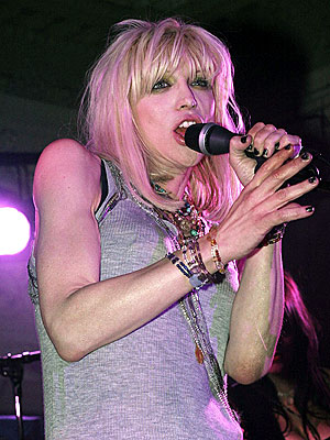 Courtney Love, in one of her better moments. Nothing was beaten, burned, cursed at, urinated on or otherwise damaged or defiled in the making of this photo.