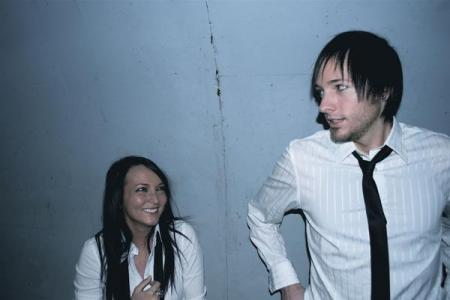 Tessa and Kyle Reidy, from a photo shoot for their band Loops & Stars.
